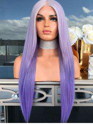 Ombre Long Synthetic Center Part Straight Wig -