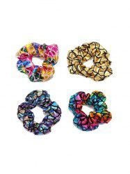 4 PCS Colorful Scale Print Hairbands -