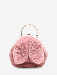 Cute Rabbit Ear Plush Mini Tote Bag -