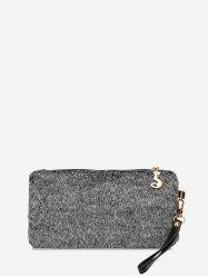 Plain Faux Fur Wrist Clutch Bag -
