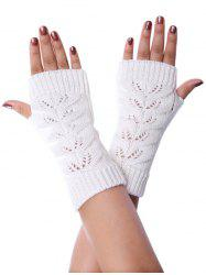 Winter Hollow Fingerless Braid Knitted Gloves -