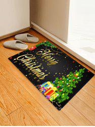 Christmas Tree Gifts Greetings Pattern Water Absorption Area Rug -
