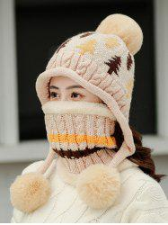 Christmas Tree Winter Knit Ear Bubble Hat -