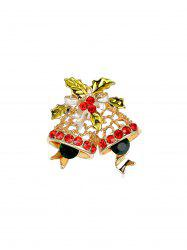 Delicate Christmas Bells Brooch With Rhinestone -