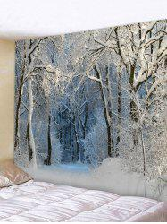 Snow Forest Trail Print Tapestry Wall Hanging Art Decoration -