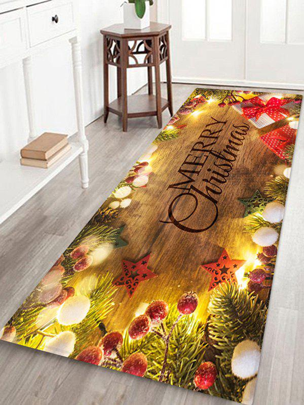 Discount Christmas Tree Branch Gift Print Floor Rug