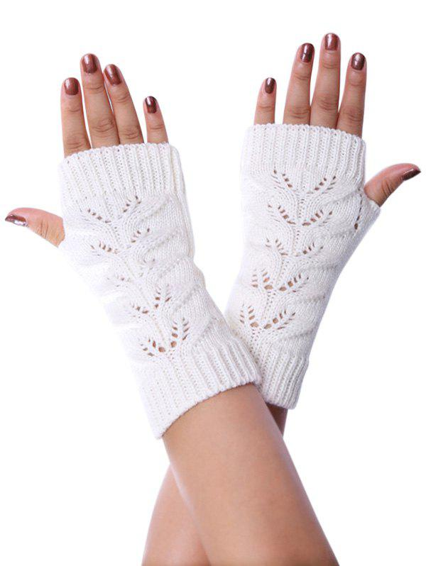 Best Winter Hollow Fingerless Braid Knitted Gloves