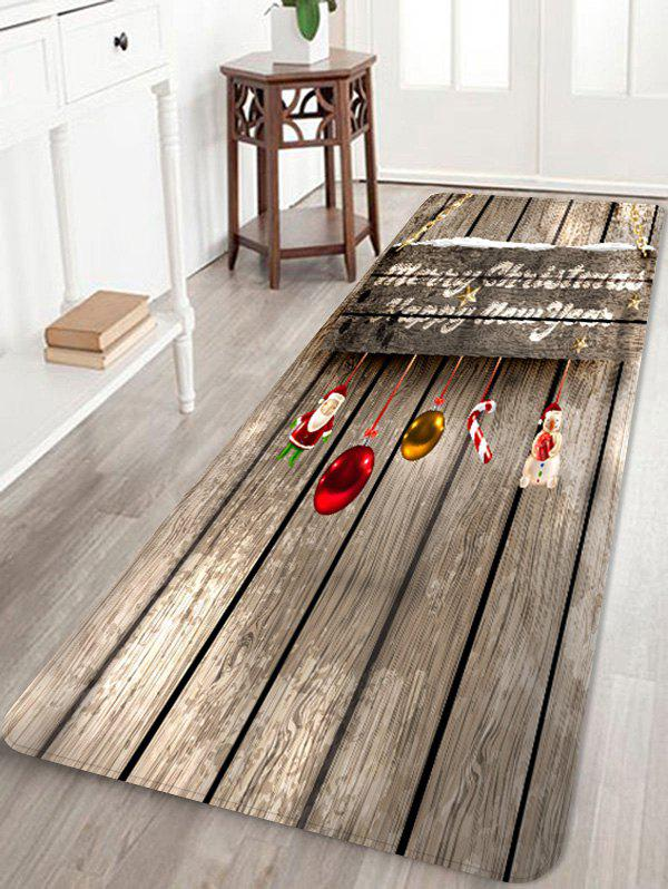 Buy Merry Christmas Wooden Floor Rug