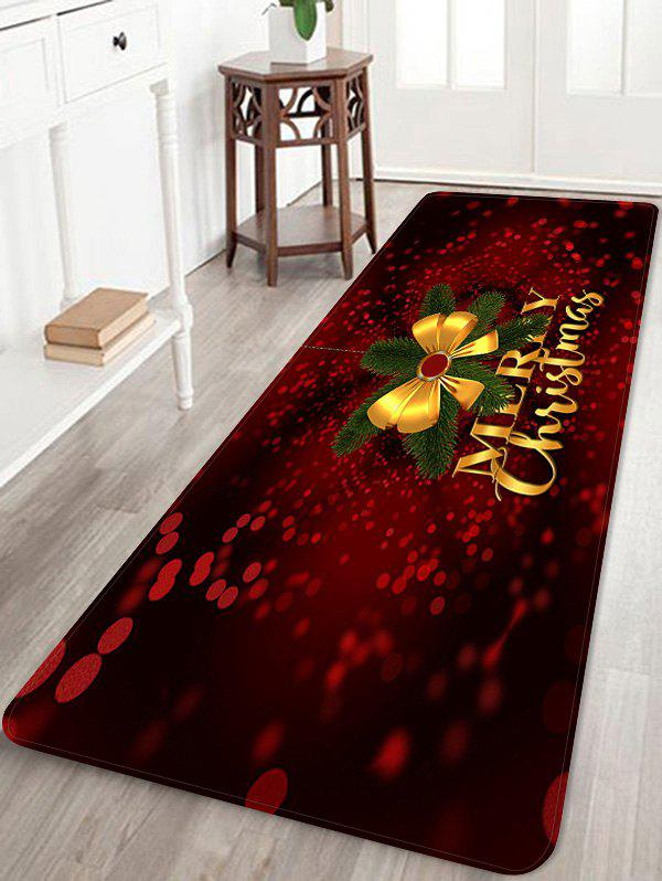 Outfit Christmas Bowknot Letter Print Floor Rug