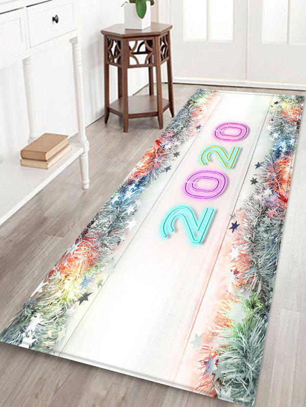 Latest Christmas Tree Branch Stars Number Print Water Absorption Area Rug