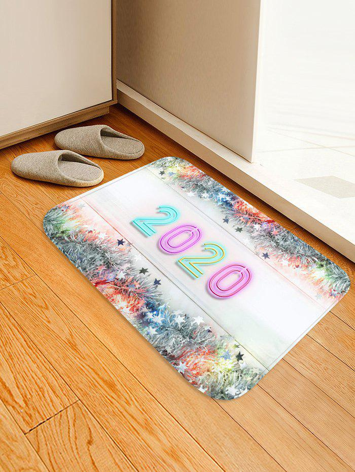 Store Christmas Tree Branch Stars Number Print Water Absorption Area Rug