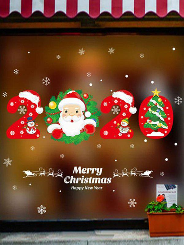 2020 Christmas Pattern With Santa Claus 38% OFF] 2020 Christmas Santa Claus Pattern Wall Sticker Set | Rosegal