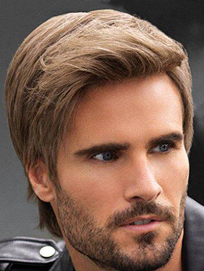 Sale Synthetic Short Straight Side Part Men Wig