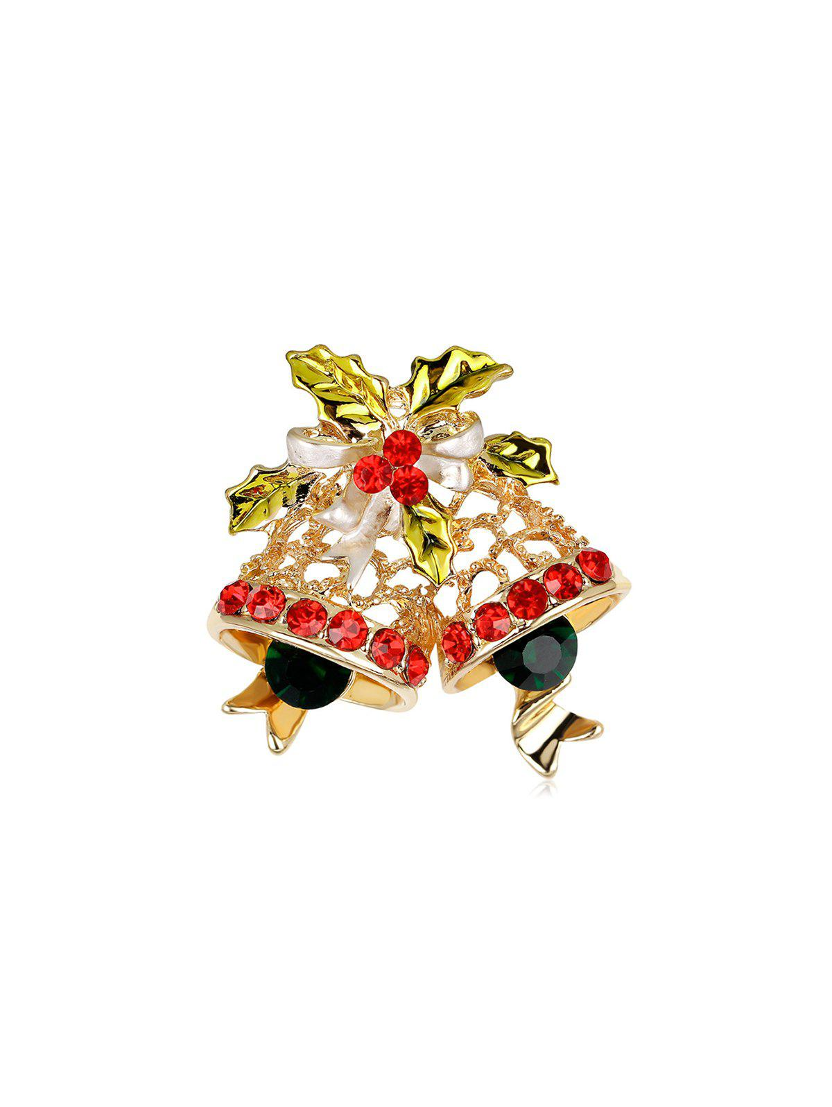 Latest Delicate Christmas Bells Brooch With Rhinestone