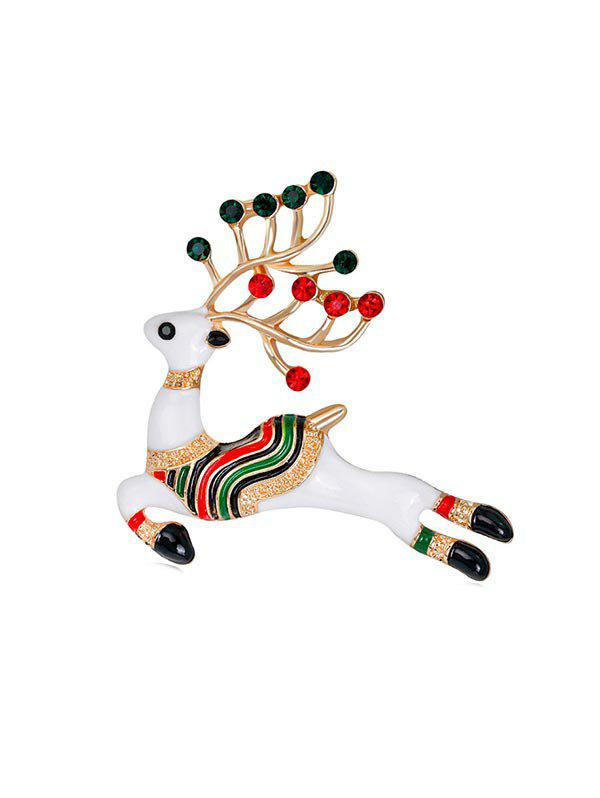 New Christmas Multi-color Deer Brooch with Rhinestone