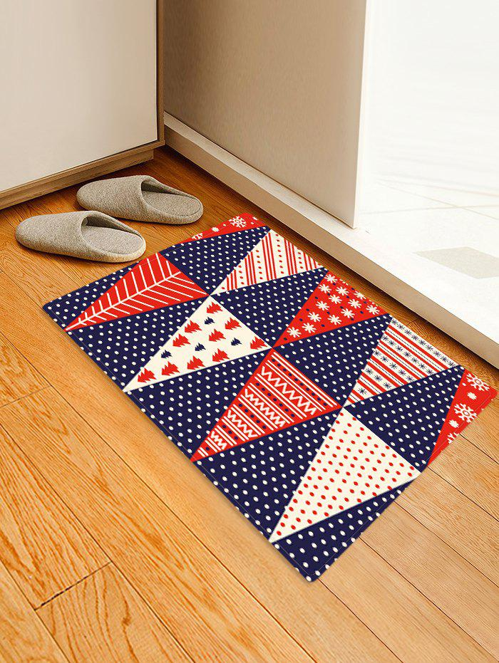 Best Christmas Tree Patchwork Pattern Water Absorption Area Rug