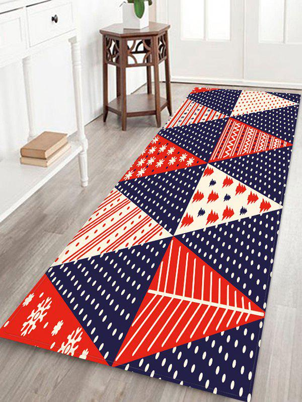 Unique Christmas Tree Patchwork Pattern Water Absorption Area Rug