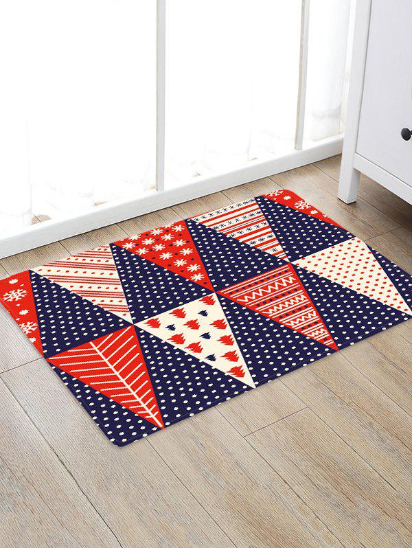 Fancy Christmas Tree Patchwork Pattern Water Absorption Area Rug
