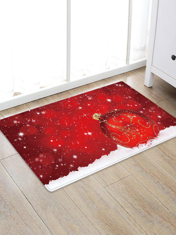 Affordable Christmas Ball Snowfield Pattern Water Absorption Area Rug