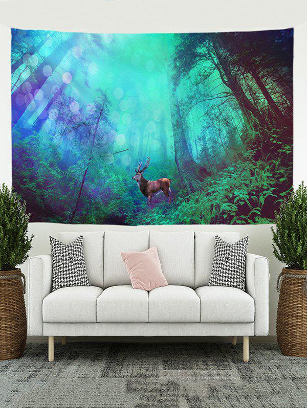 Cheap Forest Elk Print Tapestry Wall Hanging Art Decoration
