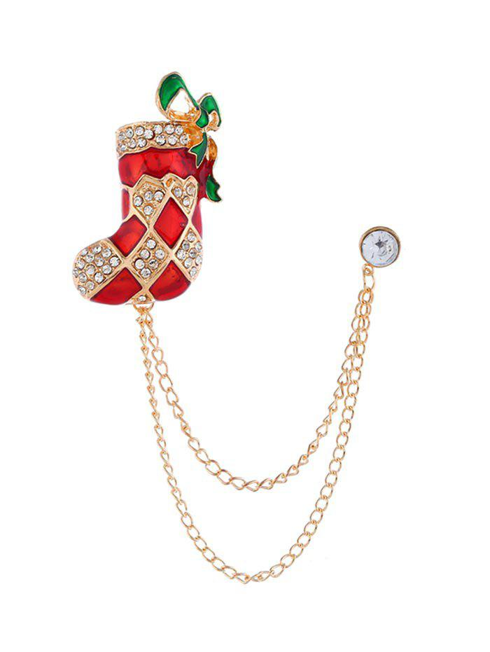 Store Christmas Stocking Hat Bell Chain Brooch