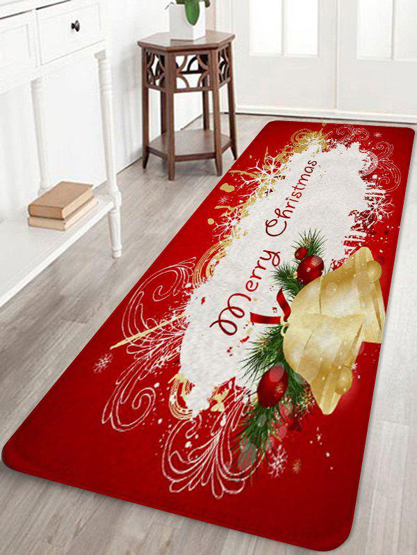 Latest Christmas Bells Greetings Pattern Water Absorption Area Rug