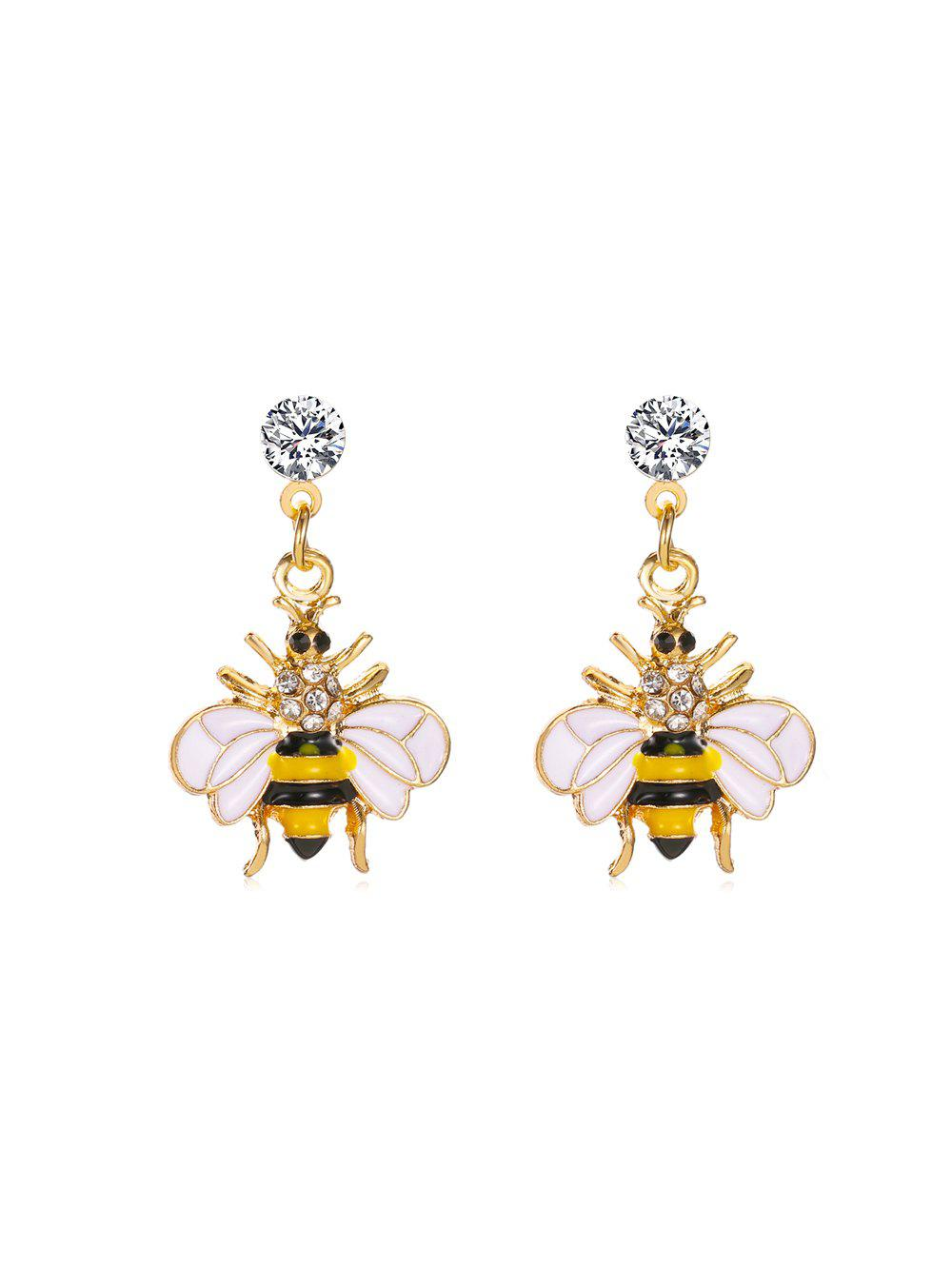 Buy Cute Honey Bee Rhinestone Drop Earrings