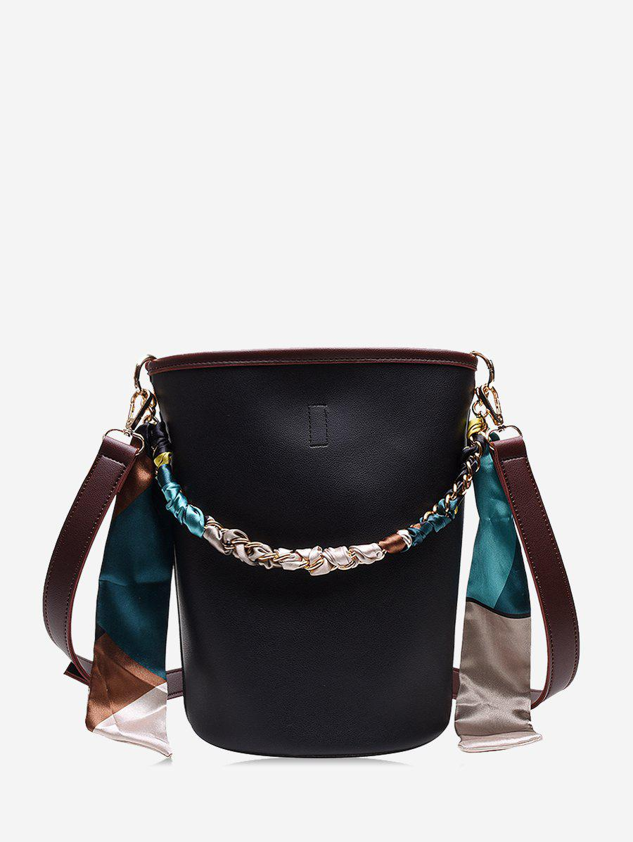 Latest Silk Embellished Crossbody Bucket Bag
