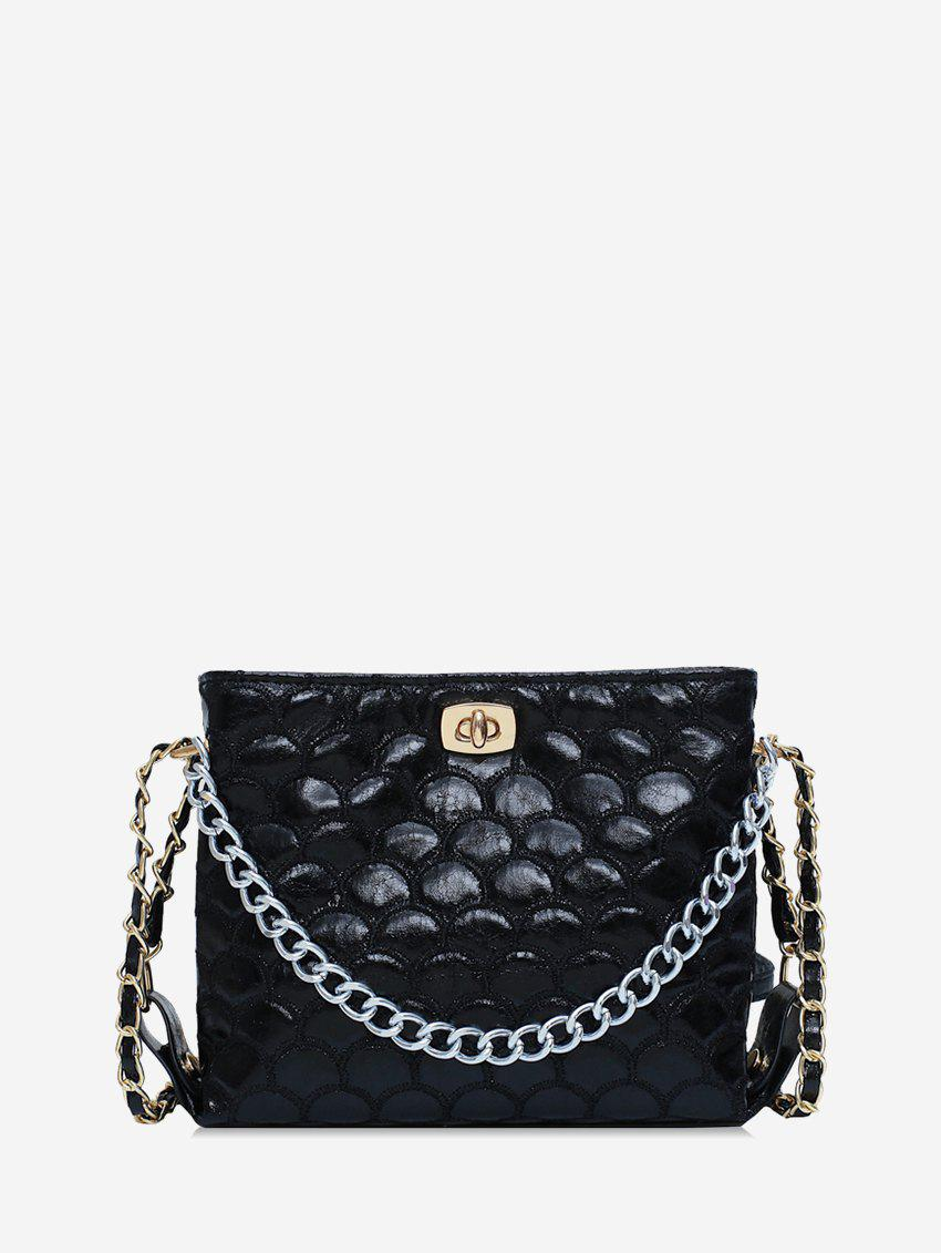 Shops Mermaid Embroidery Chain Embellished Crossbody Bag
