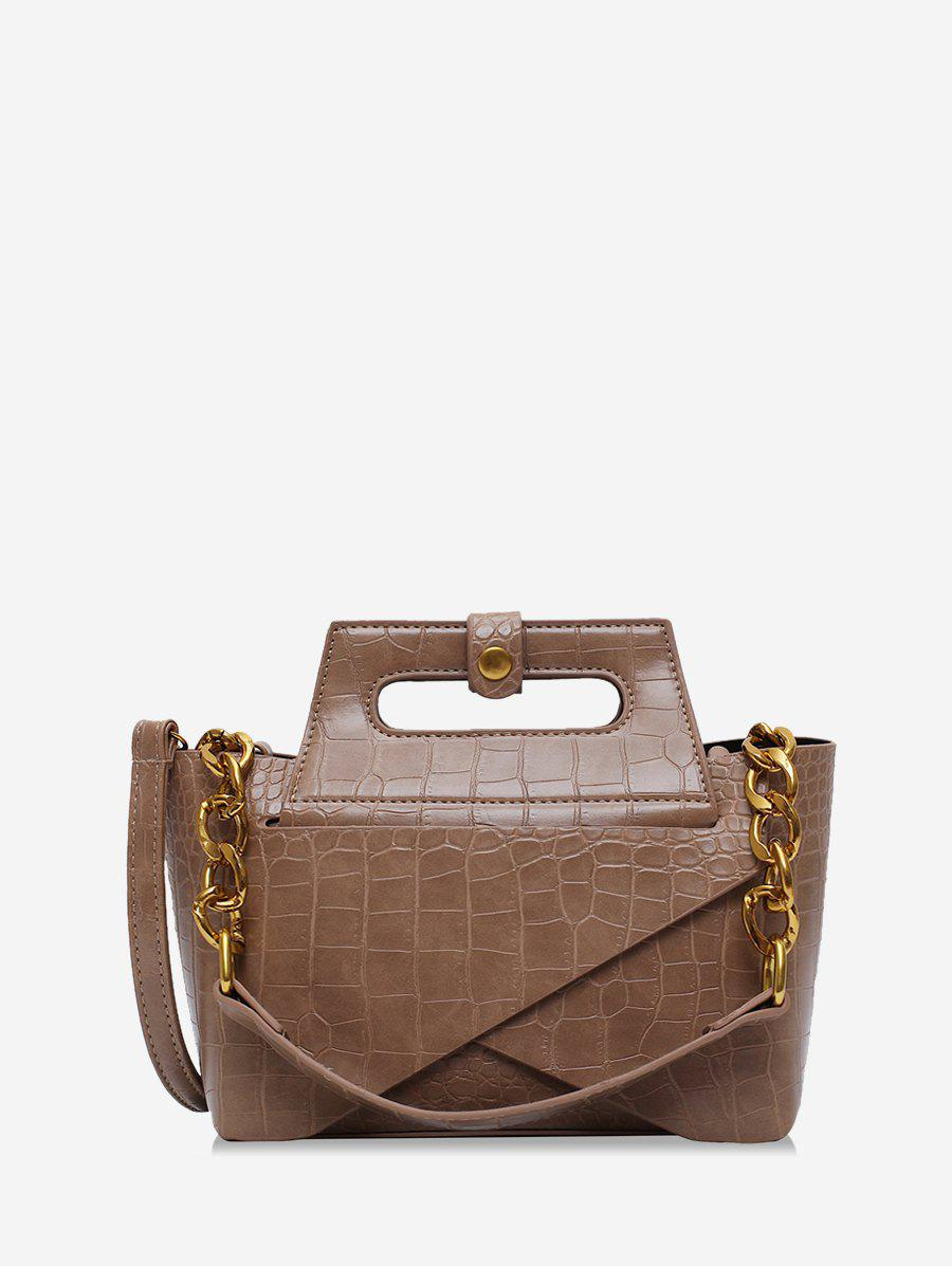 Affordable Chain Leather Embossed Handbag