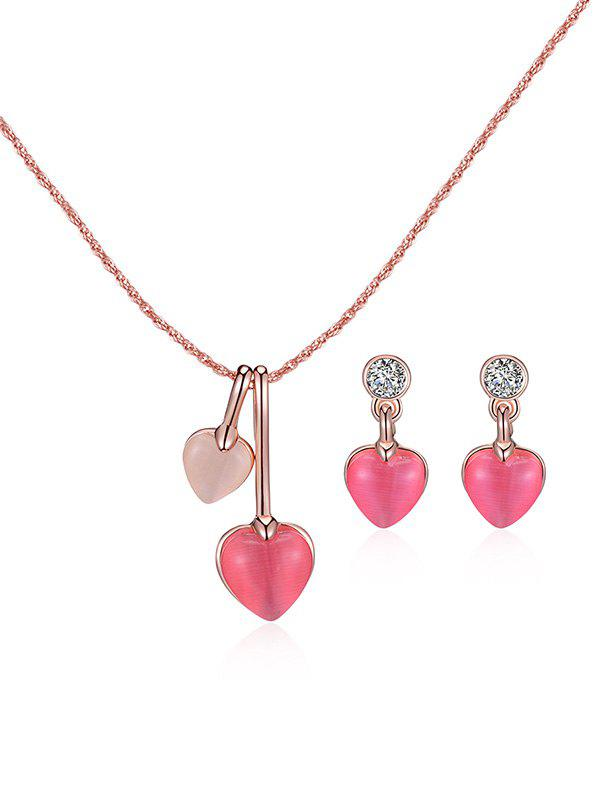 Best Romantic Heart Pendant Engagement Jewelry Set