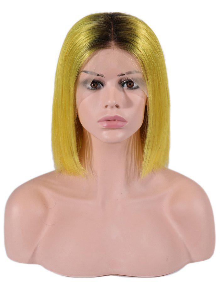 New Bob Straight Center Part Ombre Human Hair Wig