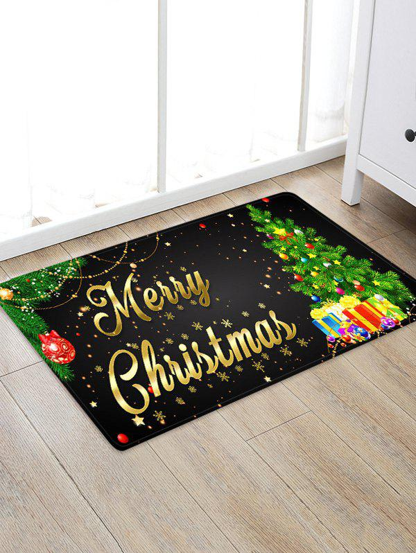 Shops Christmas Tree Gifts Greetings Pattern Water Absorption Area Rug