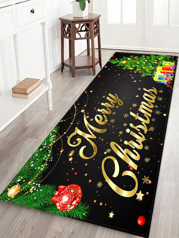 Latest Christmas Tree Gifts Greetings Pattern Water Absorption Area Rug