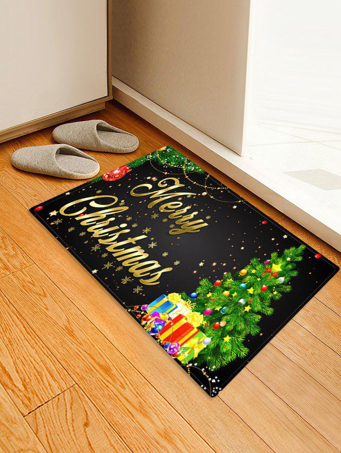 Affordable Christmas Tree Gifts Greetings Pattern Water Absorption Area Rug