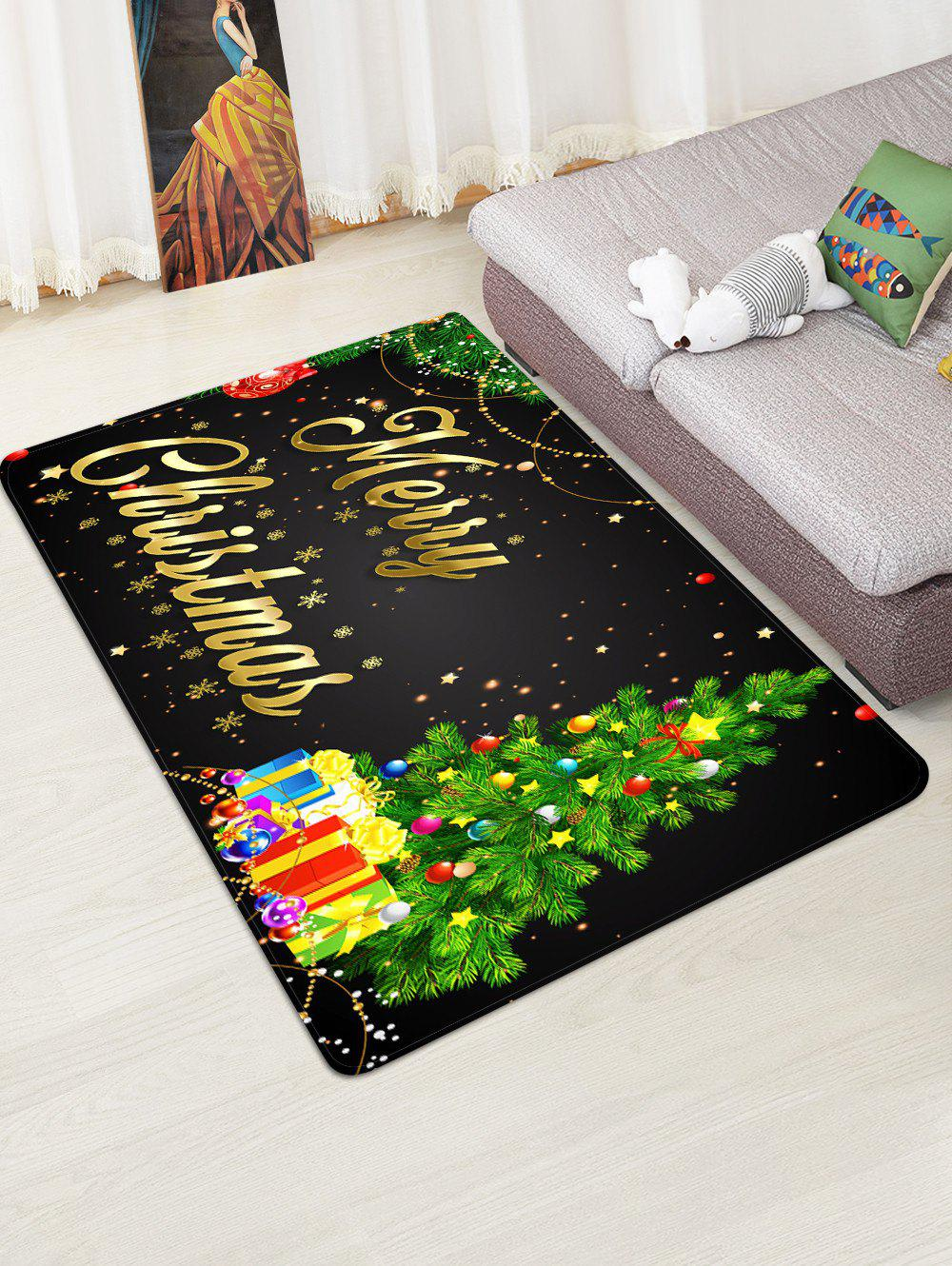 Sale Christmas Tree Gifts Greetings Pattern Water Absorption Area Rug