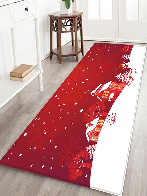 Outfits Christmas Tree Snowflake House Pattern Water Absorption Area Rug