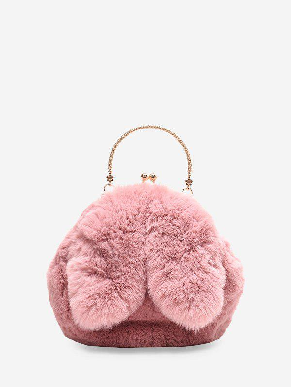 Unique Cute Rabbit Ear Plush Mini Tote Bag