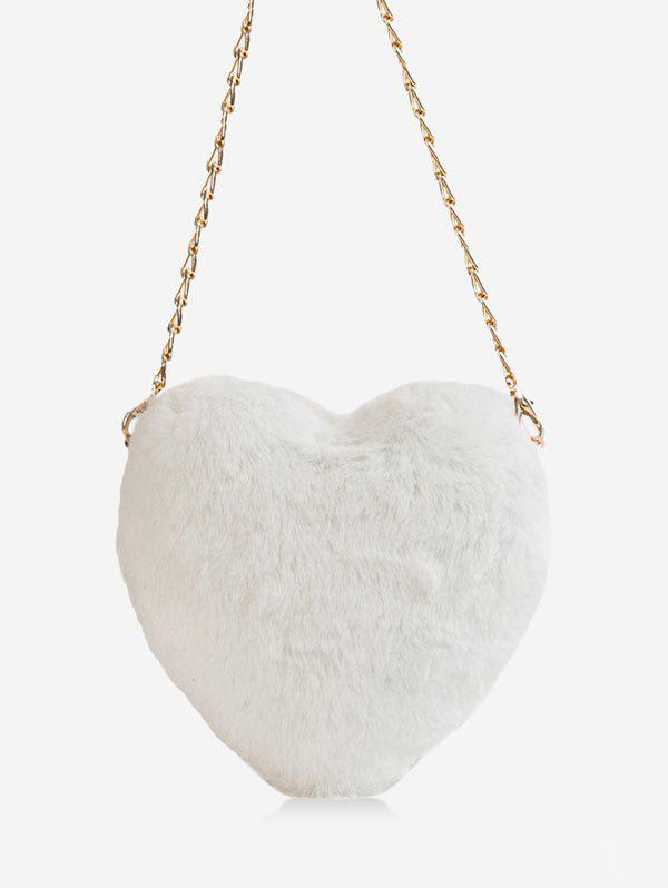 Unique Christmas Faux Fur Mini Heart Crossbody Bag