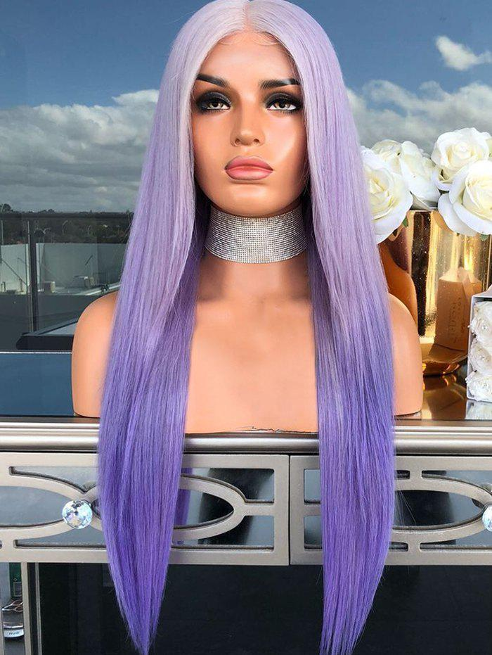 Sale Ombre Long Synthetic Center Part Straight Wig