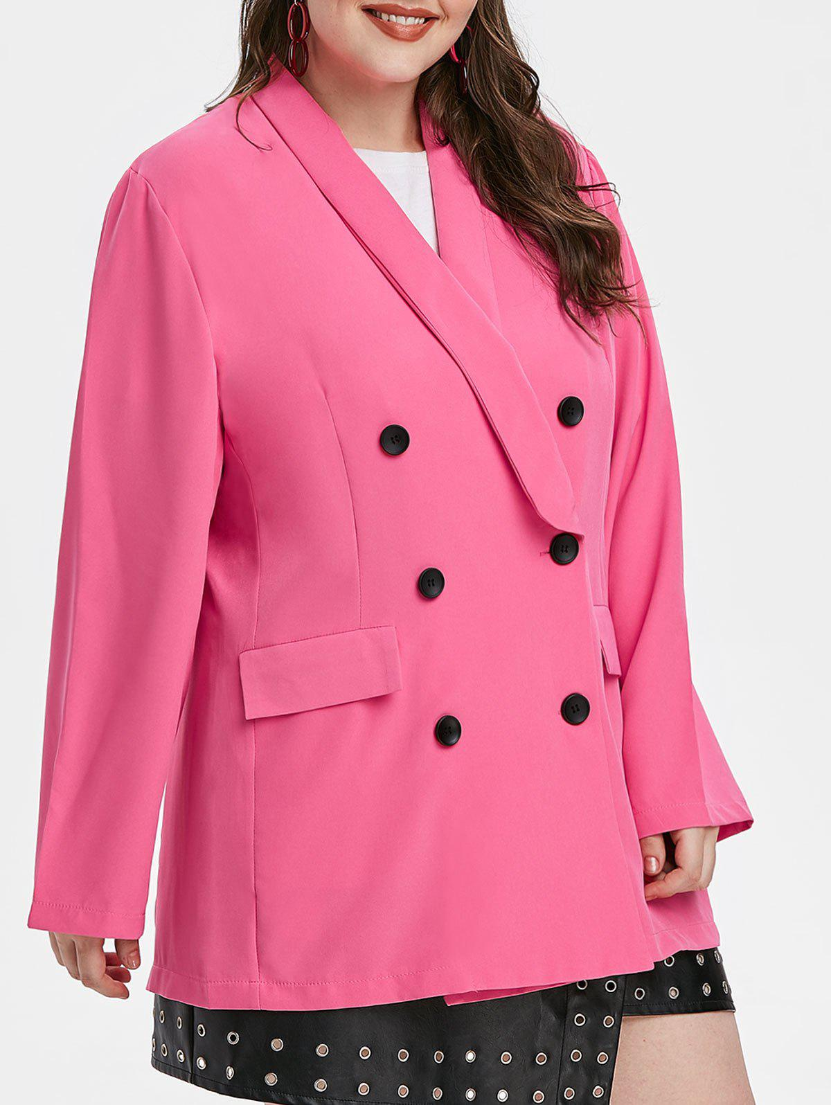 Hot Plus Size Double Breasted Shawl Collar Blazer