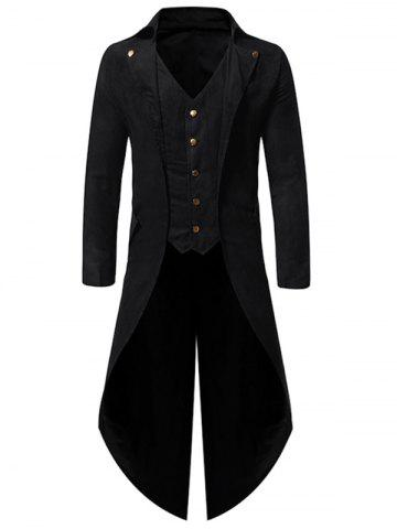 Button Decoration Long Sleeves Casual Blazer