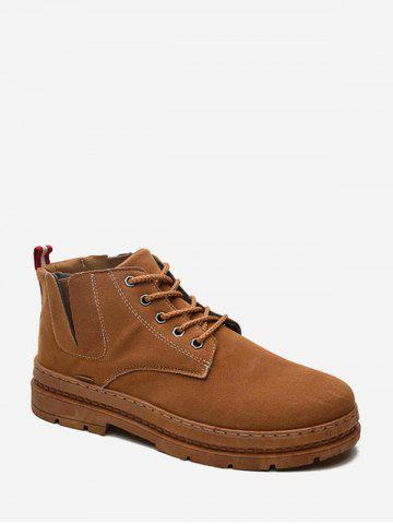 Solid Color Suede Vintage Short Boots