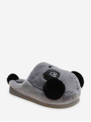 Cute Panda Plush Warm Slippers -