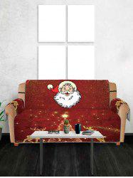 Christmas Deer Santa Claus Design Couch Cover -