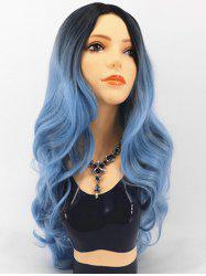 Ombre Body Wave Synthetic Center Part Long Wig -