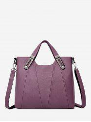 Solid Business Big Leather Shoulder Bag -