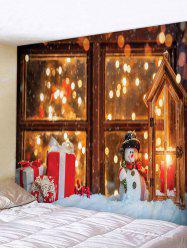 Digital Print Christmas Gift Window Decorative Tapestry -
