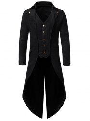 Button Decoration Long Sleeves Casual Blazer -