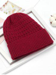 Simple Braid Pattern Knitted Hat -